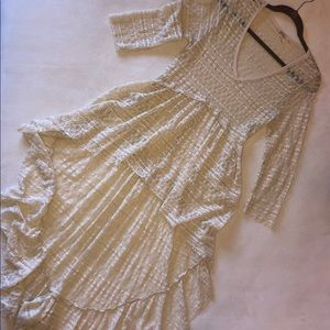 Sweet Sexy Ivory Lace Tunic -MED- Gimmicks by BKE
